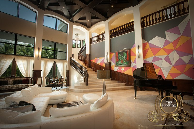 caribbean luxury rentals the mansion puerto rico rio mar living room - Mansion Living Room