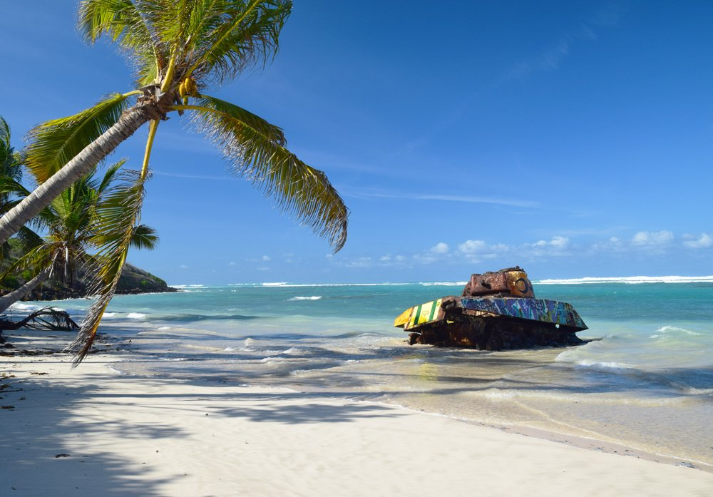 culebra-flamenco-beach-puerto-rico-tank-beach-Caribbean-Luxury-Rentals-vacation-ocean-front-beach-villa-condos