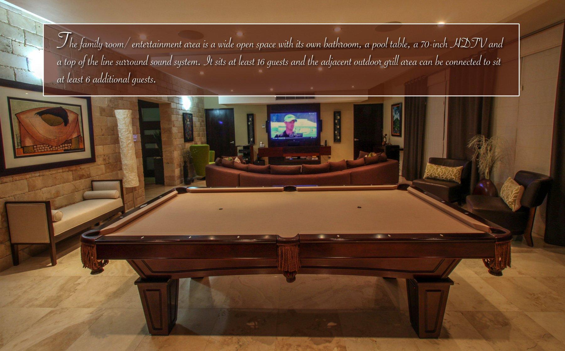 Villa Capri Caribbean Luxury Rentals - Outdoor pool table rental